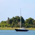 Sailboat in Morehead City North Carolina