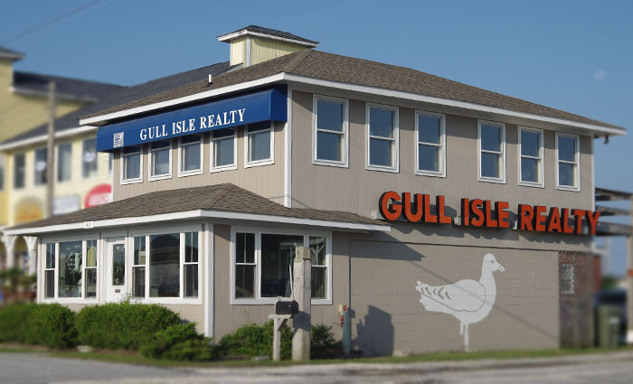 Gull Isle Realty Office with Seagull Atlantic Beach North Carolina